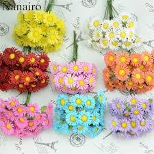 Fake Flowers For Wedding Aliexpress Com Buy Cheap 10pcs Silk Mini Artificial Daisy Flower