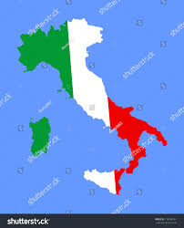 Italy Map Outline by High Detailed Vector Map Flag Italy Stock Vector 176598161