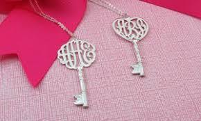 Monogram Key Necklace Monogramhub 76 Off Groupon