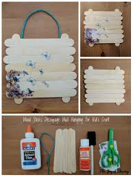 the joy of sharing decoupage wall hanging craft for kids