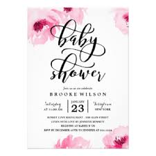 baby shower invitations girly baby shower invitations announcements zazzle