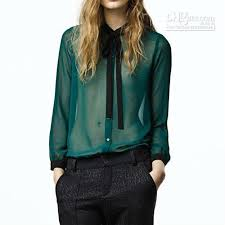 green chiffon blouse best blouse green vintage style sleeve see through
