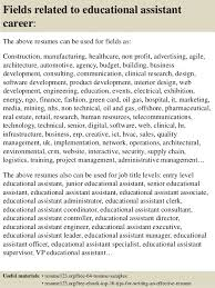 top 8 educational assistant resume samples