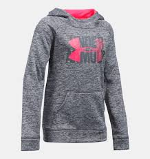 girls u0027 ua armour fleece big logo printed hoodie under armour us