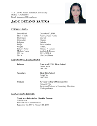 Resume Examples Simple by Simple Resume Sample Free Resume Example And Writing Download