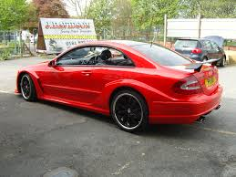 wrapped cars mercedes clk dtm replica wrapped in red gloss wrapvehicles co uk