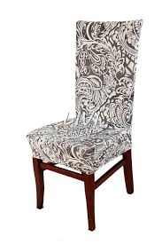 that u0027s a beautiful chair cover in gray paisley fabric dining
