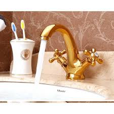 Polished Brass Bathtub Faucets Bathroom Tap Antique Tap Contemporary Golden Polished Brass Mixers