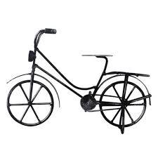 black bicycle ornament dunelm