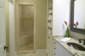 small bathroom shower room with shower and glass door combined new