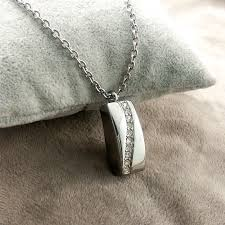 cremation ashes stainless steel necklace memorial cremation ashes urn