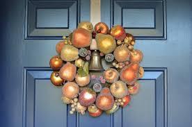 sugared fruit wreath for fall