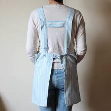 tablier de cuisine hello bodecin blue yellow stripe hello japanese kitchen apron