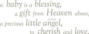 baby is a blessing wall wishes wall decals contemporary wall
