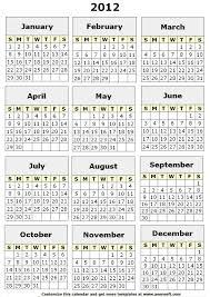 100 calendar template 2012 free printable monthly calendars