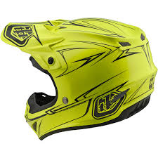 tld motocross helmets new troy lee designs 2018 mx se4 poly pinstripe flo yellow tld
