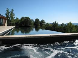 automated cover infinity edge pool