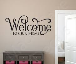 100 welcome wall sticker wall art saying promotion shop for welcome wall sticker home wall decals
