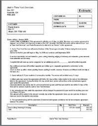 Pressure Washing Estimate by Lawn Care Business Estimate Contract Template Lawn Care