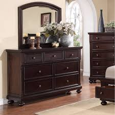 Rustic Bedroom Dressers - roundhill furniture brishland 7 drawers bedroom dresser and mirror