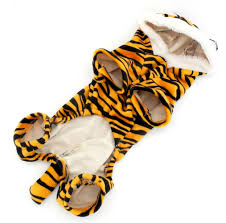 Small Puppy Halloween Costumes Esingyo Pet Puppy Apparel Small Dog Cat Clothes Warm Fleece Tiger