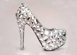 Wedding Shoes Luxury Luxury Bridal Shoes Silver Crystals Mix Gems Red Soles Shoes High