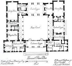courtyard house plan garrett house plans processcodi com