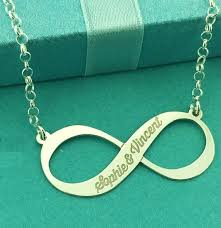 Name Engraved Necklace Silver Infinity Engraved Necklace With Name Online Kaya Jewellery Uk