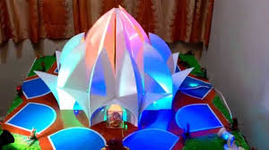 Home Temple Decoration Ideas Home Ganpati Decoration 2014 Lotus Temple Delhi Youtube