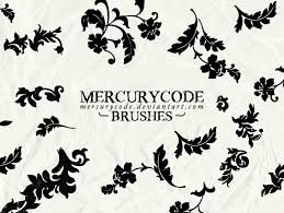 brushset 02 flower ornaments by mercurycode on deviantart