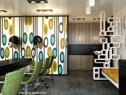Small Space Salon Ideas - i like the room divider shelves salon pinterest shelves
