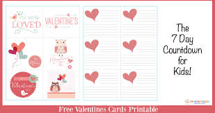 free valentines cards free valentines day cards the 7 day countdown for kids