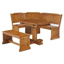 Banquette Dining Furniture Old Style Vintage Oak Triangle Shaped Breakfast Nook Dining Table