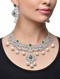 diamond necklace sets images Buy multicolor american diamonds necklace sets online jpg