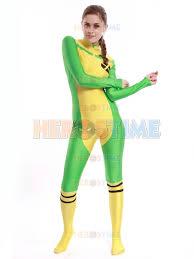 Men Rogue Halloween Costume Aliexpress Buy Men Costume Yellow U0026 Green Spandex Men