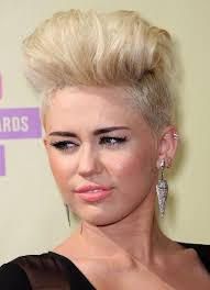 whats the name of the haircut miley cyrus usto have blonde fauxhawk haircuts miley cyrus short hair popular haircuts