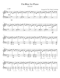 i u0027m blue by eiffel 65 for piano musescore