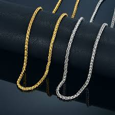 rope chain necklace men images Men 14k gold plated 6mm 30 quot rope 6mm 30 quot miami cuban link chain jpg