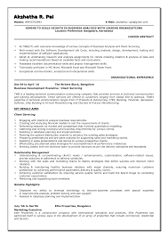 Business Objects Sample Resume by Business Development Resumes College Student Resume Examples