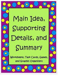 find the main idea the moon main idea worksheets and the moon