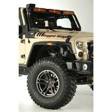 jeep white with black rims rugged ridge 15303 92 jesse spade wheel 17x9 satin gun metal 07