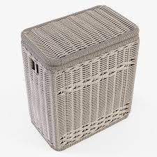 Wicker Clothes Hamper With Lid Wicker Laundry Hamper 08 Brown Color 3d Model