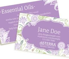 Purple Business Cards Paisley Dream Purple Doterra Business Card Coconut Oil