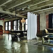 Floor To Ceiling Tension Rod Room Divider Amazon Com Roomdividersnow Muslin Hanging Room Divider Kit