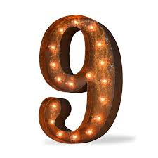 marquee numbers with lights 24 number 9 nine sign vintage marquee lights marquee lights