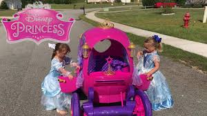 frozen power wheels sleigh disney princess carriage ride on toy power wheels car brooke and