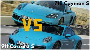porsche cayman s vs boxster s 2017 porsche 718 cayman s vs porsche 911 s