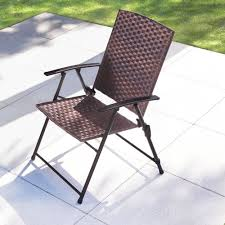 All Weather Wicker Patio Furniture - the folding all weather wicker chairs hammacher schlemmer