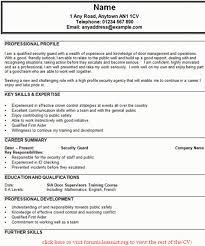 Security Officer Resume Examples And Samples Sample Resume Template For Fresh Graduates Charles Dickens Hard
