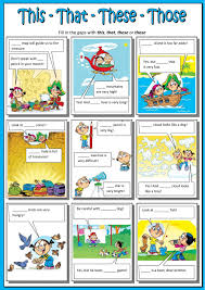 Demonstrative Pronoun Worksheet This That These Those Interactive Worksheet